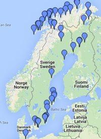 Klik voor een grote kaart met al onze overnachtingsplekken